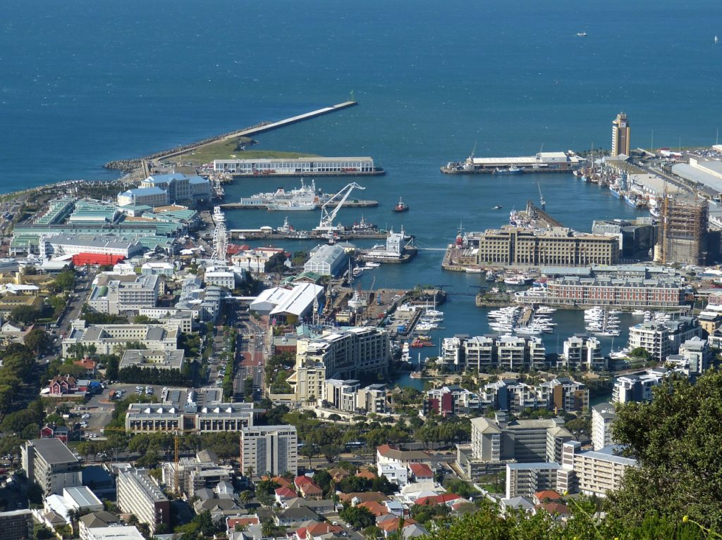 Beautiful overhead shot of Cape Town