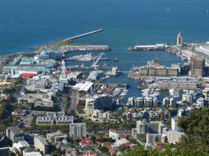 Beautiful overhead shot of Cape Town